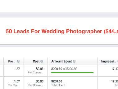 50 Leads In 14 Days For A Wedding Photographer