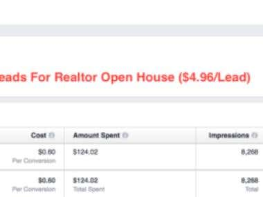 25 Leads In 1 Week For A Realtor Open House Showing