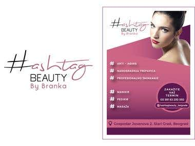 Flyer and Logo for BEAUTY SALON