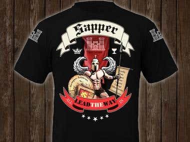 T-shirt design for U.S. Army unit.