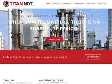Titan NDT - Wordpress Website Design