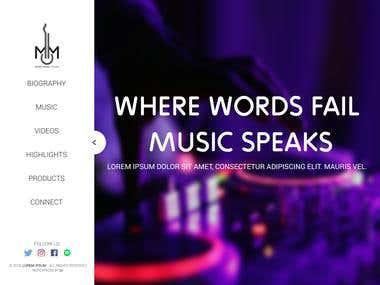 Musical Website Design