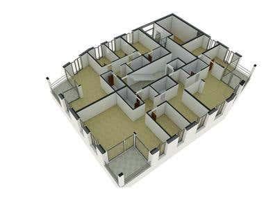 PLANTA 3D DE APARTAMENTOS / 3D APARTMENTS PLANT