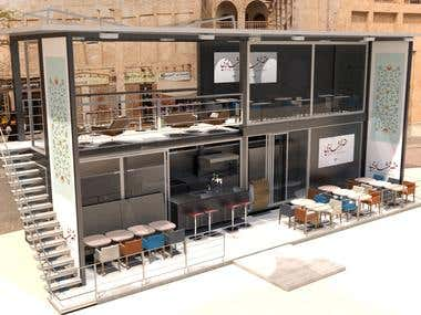 DESIGN PROJECT OF RESTAURAN CONTAINERS PERSA
