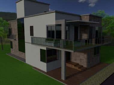 FACADE OF TOWNHOUSE 3D