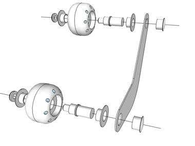 DRAWING OF MECHANISM AND 3D ASSEMBLY
