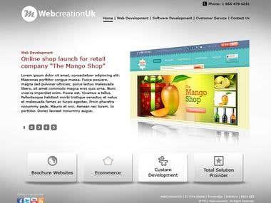 WebSite Design + PSD to HTML