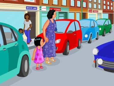 Transport for London book illustration