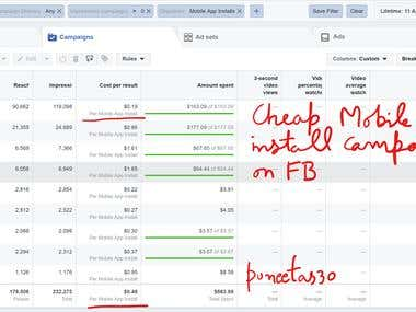 Facebook Cheap Mobile APP Install Campaign