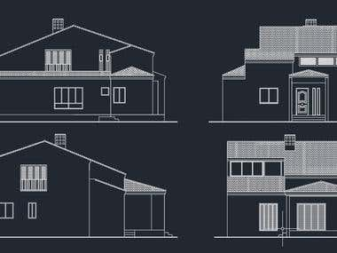 House plan in AutoCAD