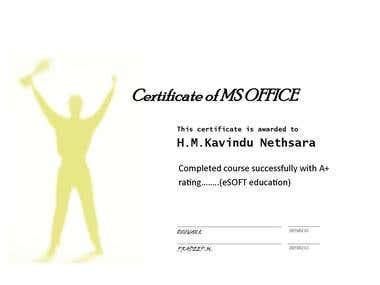 MY MS OFFICE CERTIFICATE