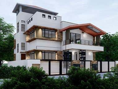 ARCHITECTURAL WORK_ (RESIDENTIAL BUNGALOW )