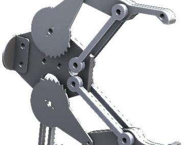 Design of Gripper for 6 axis robot arm