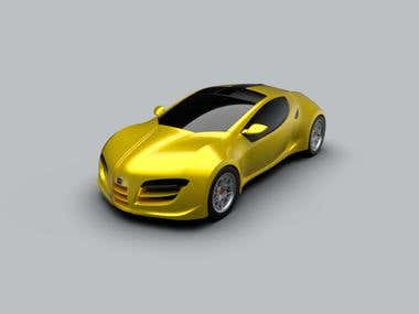 Sports car rendering