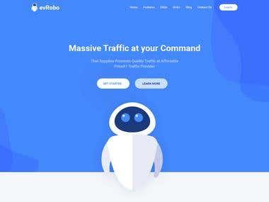 evRobo Landing page design