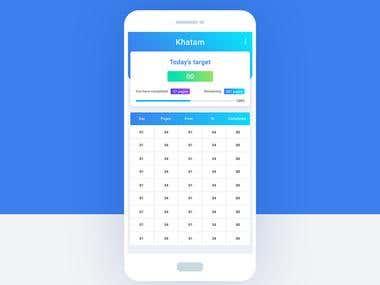 Khatam App Design