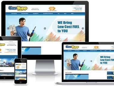 Mobile Gas station website
