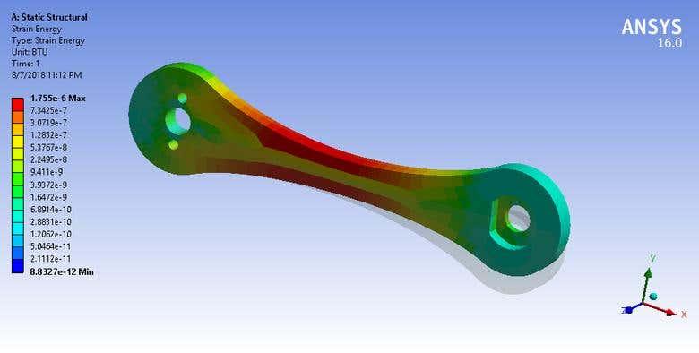Bike Crank: Static Structural Analysis | Freelancer