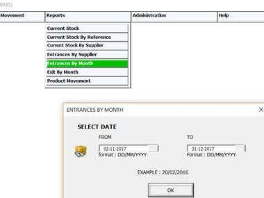 Store Management and Excel data generation Automation tool
