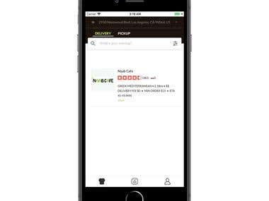 Food ordering Mobile App with Apple Pay