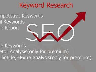 I Will Do Keyword Research ,Competitor Analysis and backlink