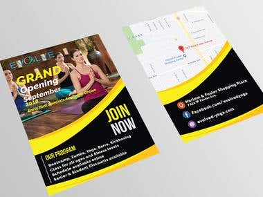 I will design a gym,youga and fitness flyers