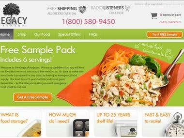Ecommerce - Magento - Free Legacy Food