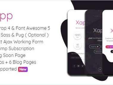 Xapp – HTML App Landing Page Template