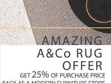 In-store promotion poster