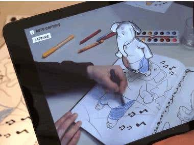 Drawing a 3D character for children app (Augmented Reality)