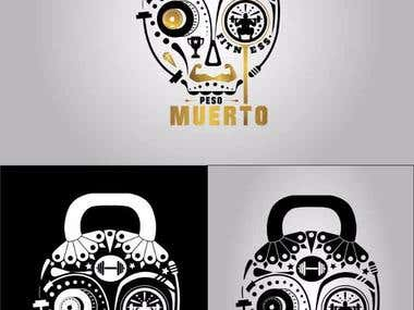 logo for a gym called Peso Muerto