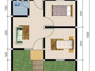 Floor plan 2D & 3D