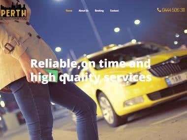 taxi business wordpress website