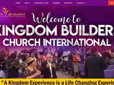 Church website with donation option made with WORDPRESS