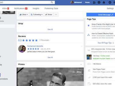 facebook page managing