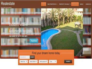 Real Estate Website with Many Functionalities and Creative