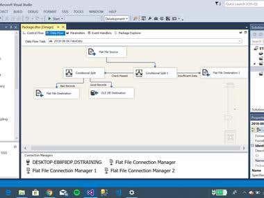 Data flow for ETL process into Microsoft SQL Server