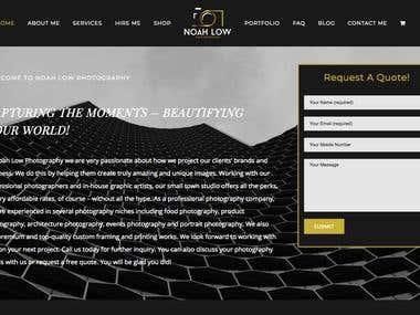 Portfolio + E-Commerce Website Development
