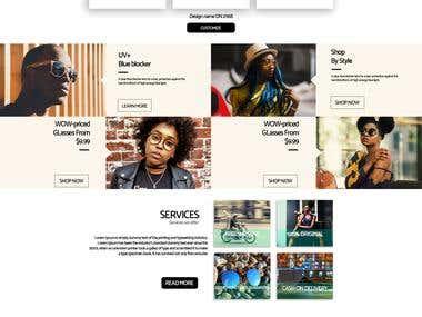 Website UI creation