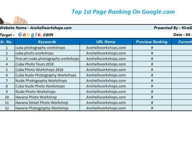 Top 1st Ranking By White Hat SEO