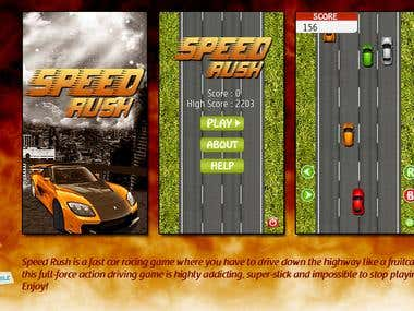 SPEED RUSH (J2ME Racing Game)
