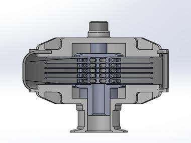 Turbo Pump: SOLIDWORKS