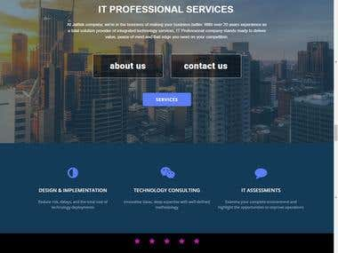 Wordpress website for IT company