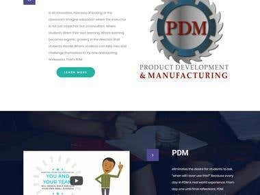 Wordpress website for product development class