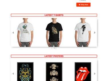Woocommerce website for tshirts