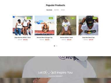 Dop3inc Store Website I Ecommerce Development