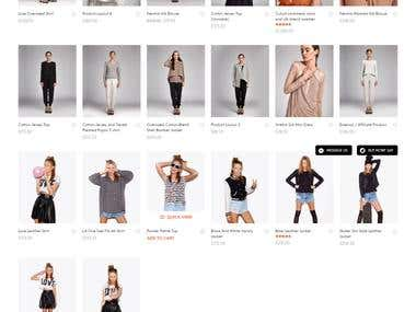 Woocommerce website for women style shop