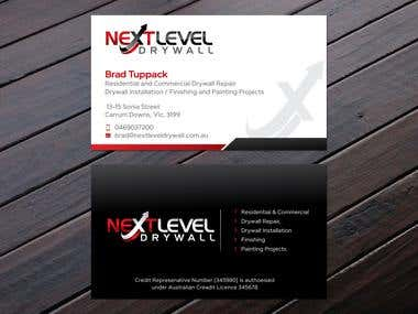 Logo & Business Cards design for a Drywall Company