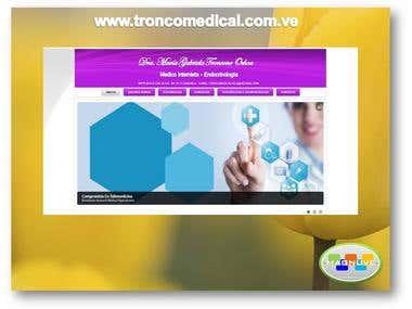 Diseño web de www.troncomedical.com.ve