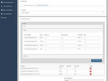 Online delivery + inventory management system.